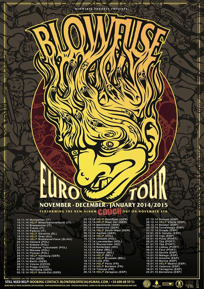 Blowfuse Tour Poster
