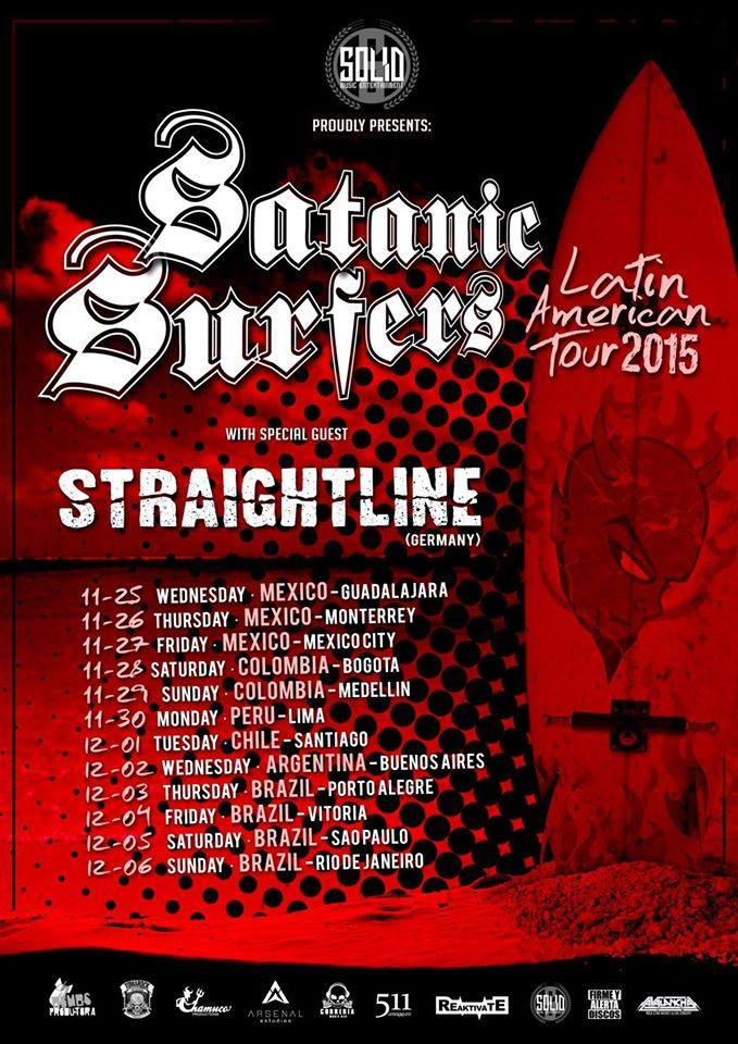 Straightline - Satanic Surfers Latin America tour 2015