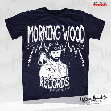 Morning Wood Records – Lumberpunk – Navy T-shirt