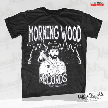 Morning Wood Records – Lumberpunk – Dark Heather T-shirt