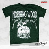 Morning Wood Records - Lumberpunk - Forest Green T-shirt
