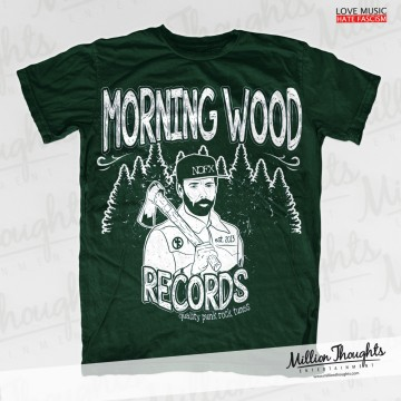 Morning Wood Records – Lumberpunk – Forest Green T-shirt