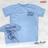 Sun-0-Bathers Tiki Shirt Light Blue